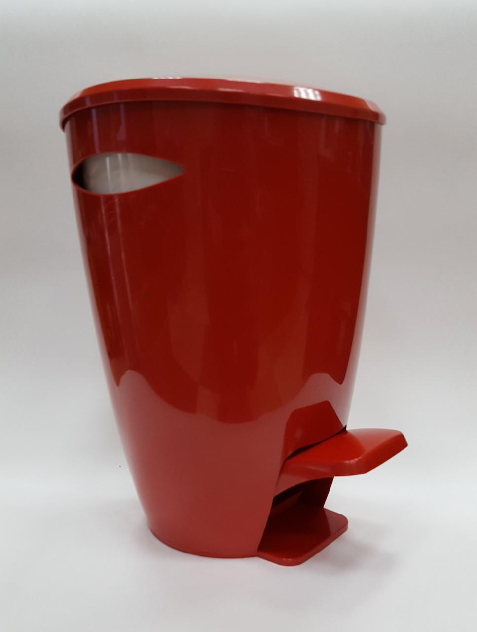 Ведро для мусора серия Фелиа цвет красный/белый