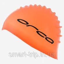 Шапка для плавання Orca SILICONE SWIMCAP тріатлон силікон, помаранчева
