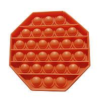 Антистрес іграшка Pop It 8-кутник помаранчевий