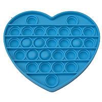 Антистрес іграшка Pop It Серце блакитне