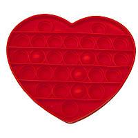 Антистрес іграшка Pop It червоне Серце