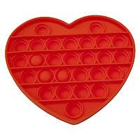 Антистрес іграшка Pop It оранжеве Серце