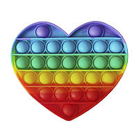 Антистрес іграшка Pop It Серце веселка