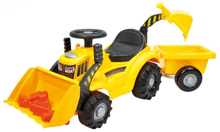 Трактор-погрузчик Макси для катания малыша с прицепом Ecoiffier 007850