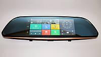 """Автомобильное зеркало регистратор А6 регистратор-зеркало с большим экраном 7"""" GPS WiFi Android 3G две камеры"""
