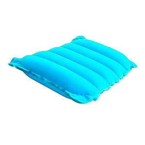 Надувна флокірована подушка Bestway 67485, блакитна, 38 х 24 х 9 см, (Оригінал)