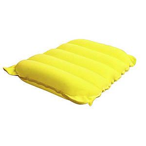 Надувна флокірована подушка Bestway 67485, жовта, 38 х 24 х 9 см, (Оригінал)