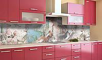 Наклейка виниловая кухонный фартук Zatarga Весна на побережье 650х2500 мм Z181301 1 GL, КОД: 2385260