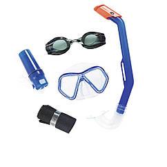 Набір 5 в 1 для плавання Bestway 24031 (маска, окуляри: розмір S, (3+), обхват голови ≈ 50 см, трубка, кейс і