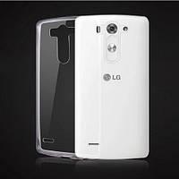 Ультратонкий силиконовый чехол для LG G3s Dual D724 прозрачный