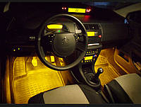 Подсветка салона автомобиля—на пульте, многоцветная!4х15