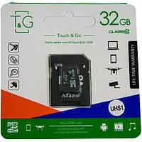 Карти пам'яті microSD Touch&Go 32 Гб з адаптером