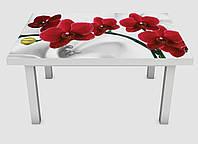 Наклейка на стол Zatarga 01 650х1200 мм Орхидея алая жемчужина Z180234 1 ZK, КОД: 1833849