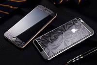 Защитное стекло (2in1) TG Premium Tempered Glass 0,26mm 2,5D для iPhone 6 Gray Rhombus переднее + заднее
