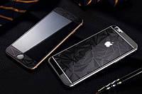 Защитное стекло для iPhone 5/5s Black Rhombus переднее + заднее