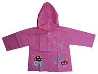 Дождевик розового цвета, для девочки до 3 лет, фото 1