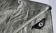 "Тент ""Серо-зелёный"" 6х10м, плотность 100 г/м2"