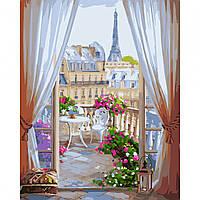 Картина за номерами Вікно в Париж 40*50 на полотні в коробці Santi