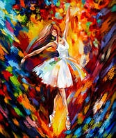 Картина за номерами на полотні економ 40*50 Балерина в білому, DankoToys (10)