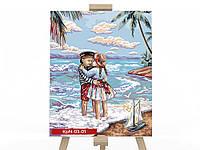 Картина за номерами на полотні економ 30*40 Морський пляж DankoToys (10)