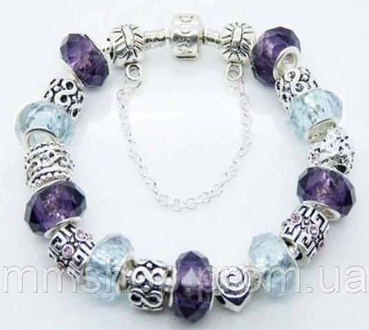 Браслет в стиле PANDORA - Фиолетовый кристалл