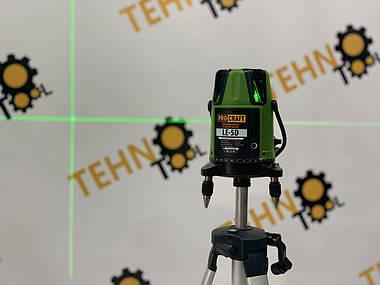 Лазерний рівень Procraft LE-5D (зелений промінь) + тринога 1м., фото 2