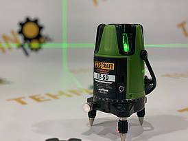 Лазерний рівень Procraft LE-5D (зелений промінь) + тринога 1м.