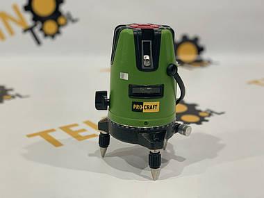 Лазерний рівень Procraft LE-5D (зелений промінь) + тринога 1м., фото 3