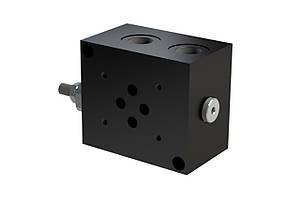 Плита одномісна з запобіжним клапаном під гідророзподільник сетор 3, Ду6 мм(