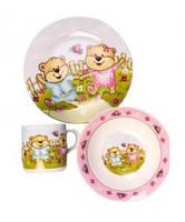 Набор детской посуды Медвежата 3 предмета Оселя