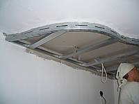 Устройство потолка из гипсокартона многоуровневого