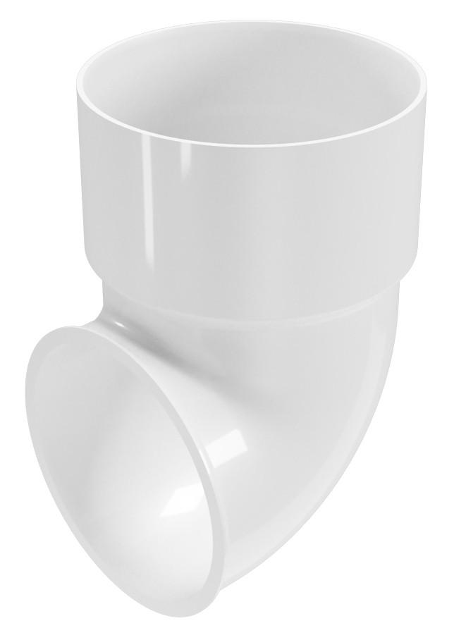 Коліно пластикової труби Regenau Д = 80мм, 87,5 ° градусів
