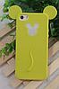 Силиконовый чехол Микки Маус на Iphone 4/4S салатовый