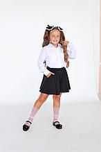 """Шкільна нарядна блузка """"Брошка"""""""