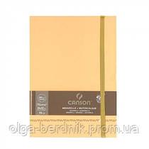 Записная книжка/линия Sketching notebook 90 гр, 9x14 см 50 л, Beige, Canson Франция
