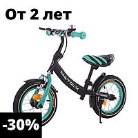Детский бирюзовый беговел велобег унисекс от 2 до 5 лет 12 дюймов велобег, детские беговелы, велик без педалей