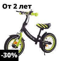 Детский зеленый беговел велобег унисекс от 2 до 5 лет 12 дюймов велобег, детские беговелы, велик без педалей