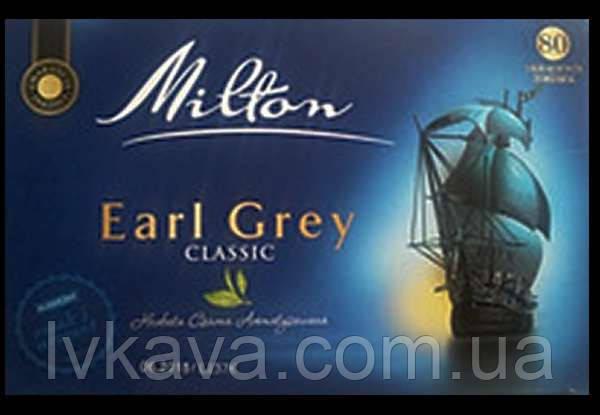 Чай черный Earl Grey Classic  Milton, 80 пак