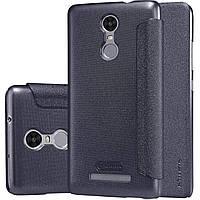 Кожаный чехол Nillkin Sparkle для Xiaomi Redmi Note 3 чёрный