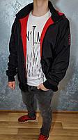 Ветровка мужская двухсторонняя цвет- черный \ красный