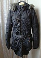 Куртка женская теплая капюшон бренд Drei Master р.52 4859а, фото 1