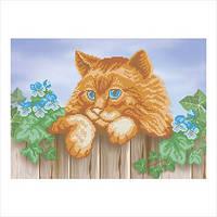 """Схема для вышивки бисером """"Рыжий кот"""""""