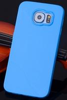 Силиконовый синий чехол для Samsung Galaxy S6