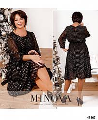 Изящное и нежное платье с шифоновым верхним слоем большого размера 48, 50, 52, 54