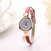 Часы женские Ymhao, красный ремешок, фото 1