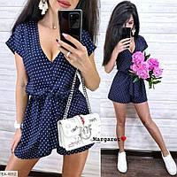 Летний комбинезон женский легкий короткий с шортами  р-ры 42-46 арт. 4049/4055