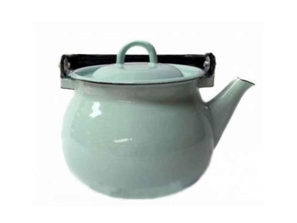 Чайник емальов. 2,5л/4 Бірюзова (I27101/4) ТМ IDILIA