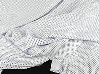 Тканина супер софт, колір білий , дрібний горошок