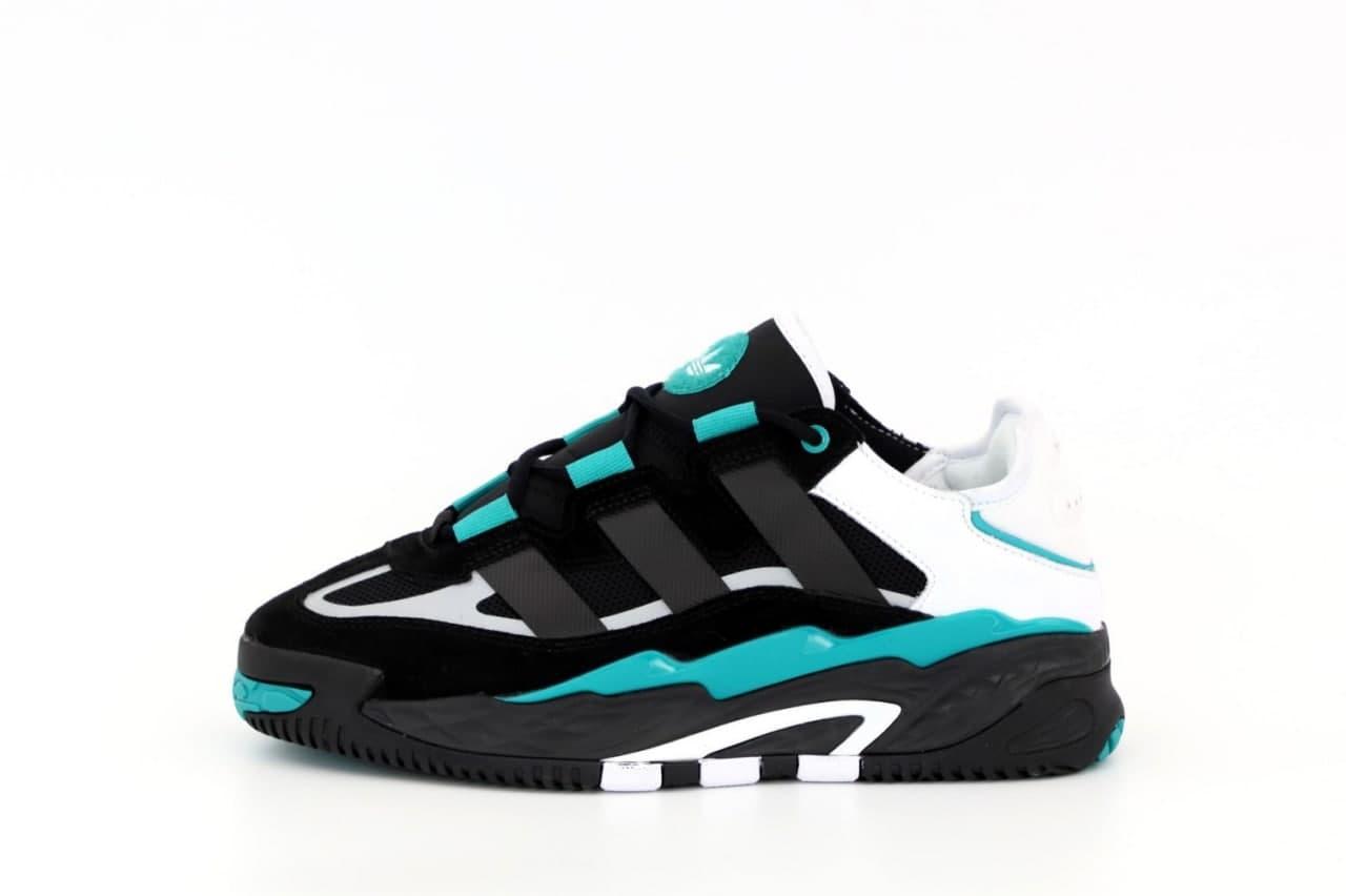 Чоловічі кросівки Adidas Niteball (чорні) К12548 круті кроси для хлопців