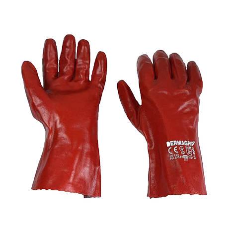 Перчатки маслобензостойкие длинные, нитриловый облив, уп. — 12 пар, фото 2